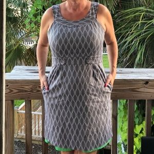 Robbie Bee Grey and Lime Dress